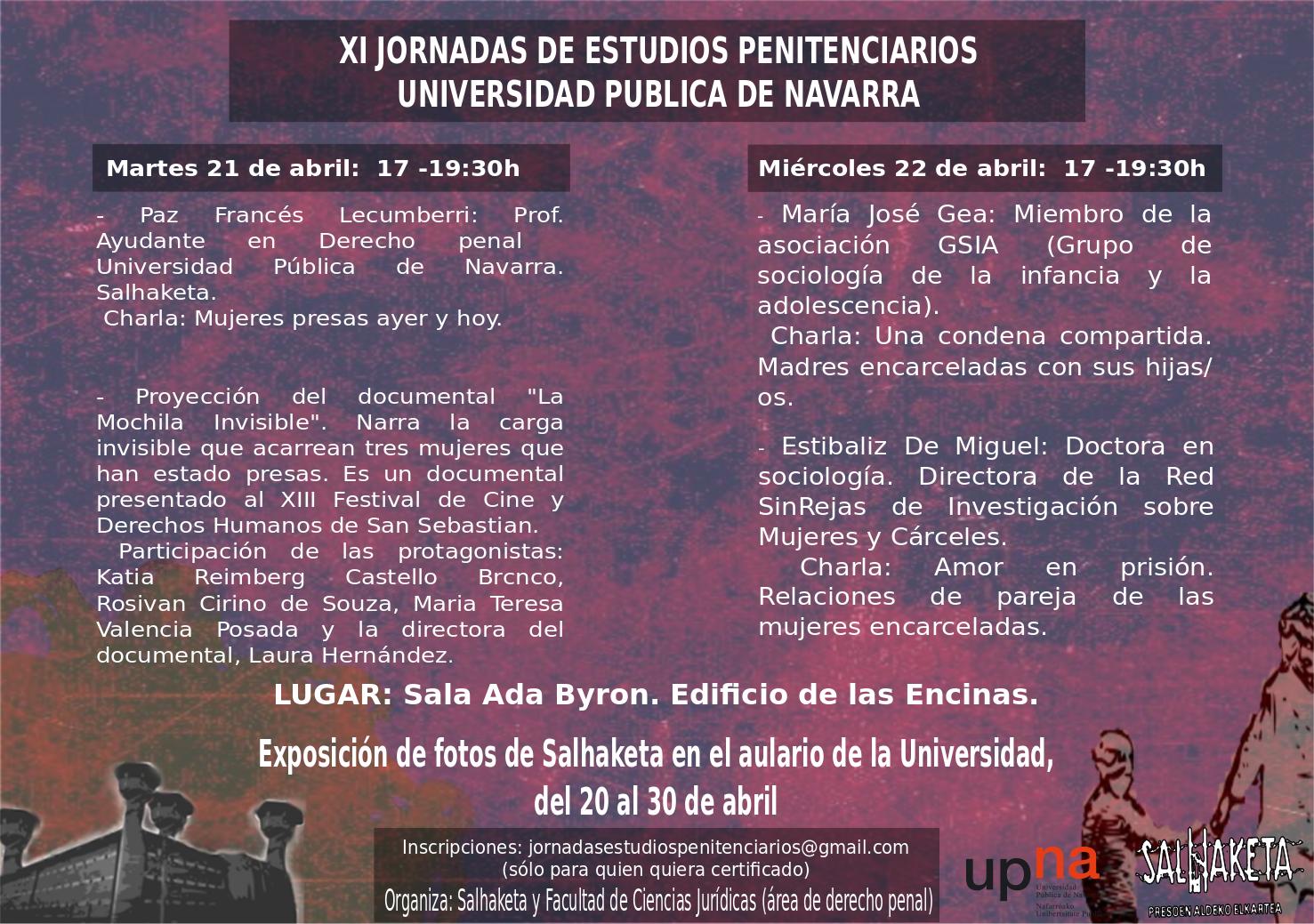 XI Jornadas de Estudios Penitenciarios